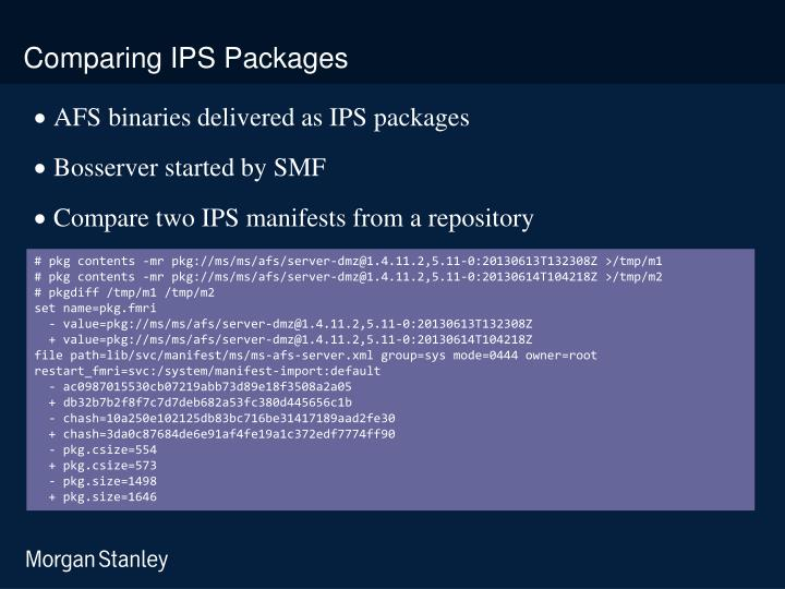 Comparing IPS Packages