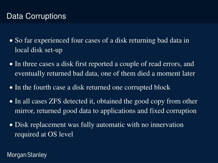 Data Corruptions