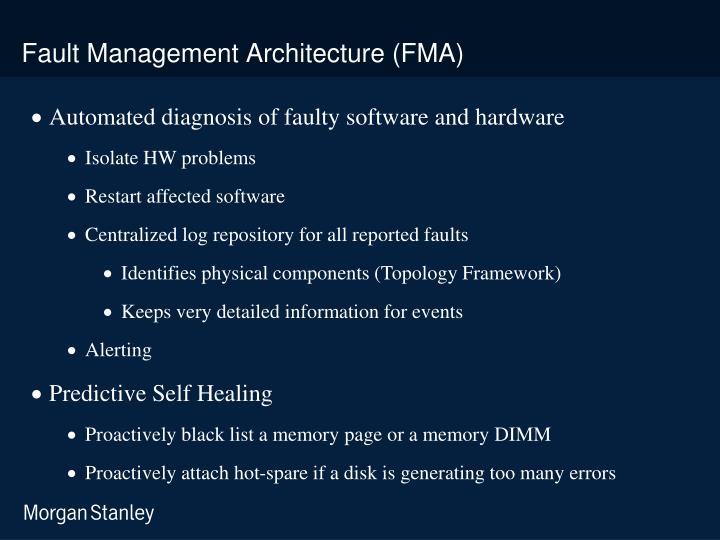 Fault Management Architecture (FMA)
