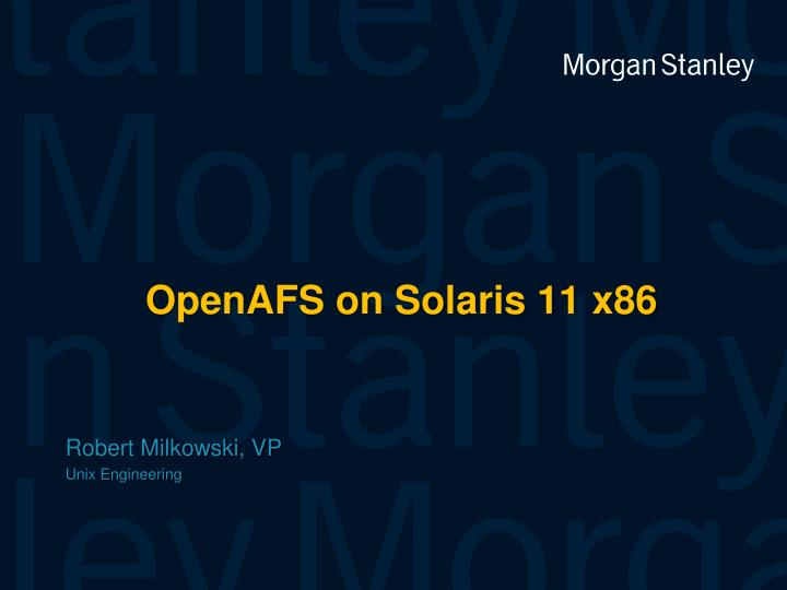 Openafs on solaris 11 x86