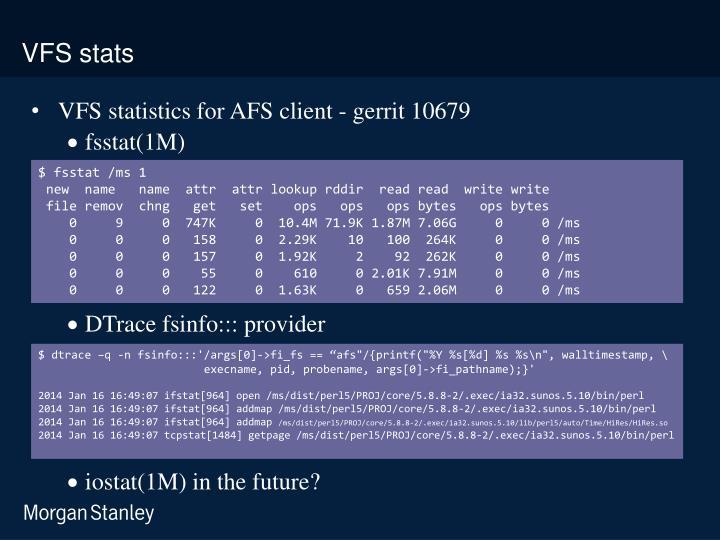 VFS stats