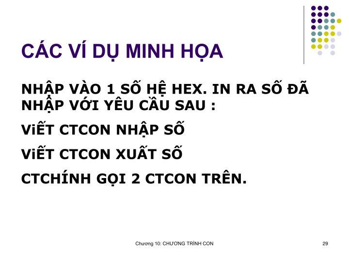 CC V D MINH HA