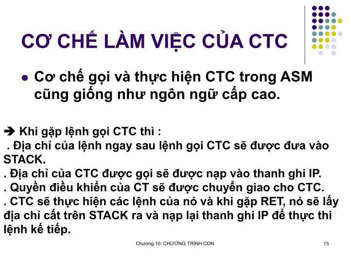 C CH LM VIC CA CTC