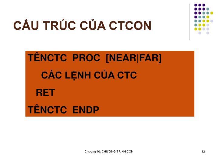 CU TRC CA CTCON