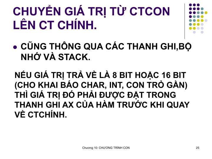 CHUYN GI TR T CTCON LN CT CHNH.