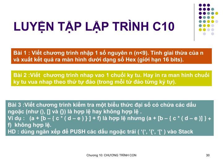 LUYN TP LP TRNH C10