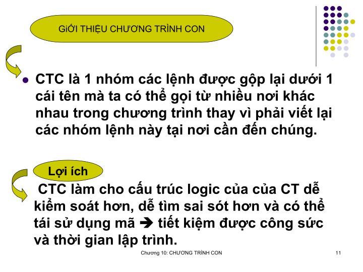GiI THIU CHNG TRNH CON