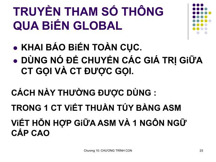 TRUYN THAM S THNG QUA BiN GLOBAL