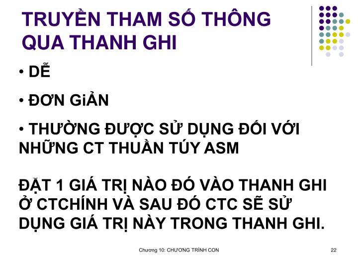 TRUYN THAM S THNG QUA THANH GHI