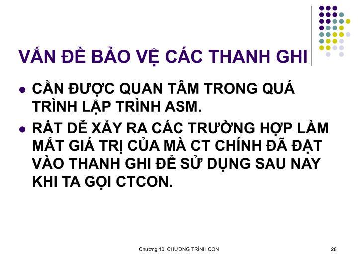 VN  BO V CC THANH GHI