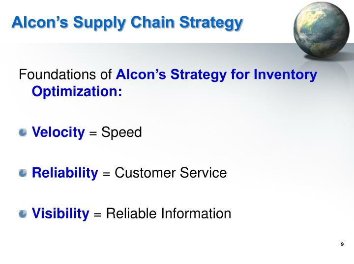 Alcon's Supply Chain Strategy