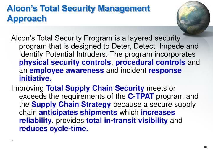 Alcon's Total Security Management Approach