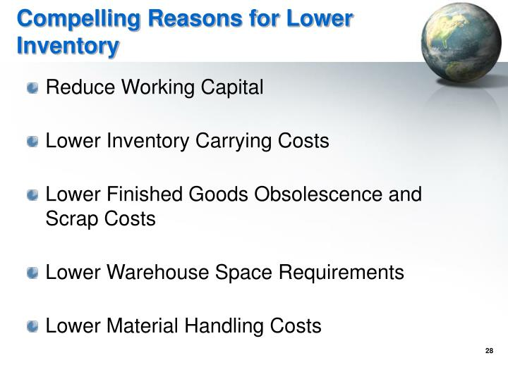 Compelling Reasons for Lower Inventory