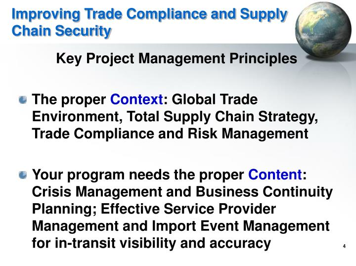 Improving Trade Compliance and Supply Chain Security