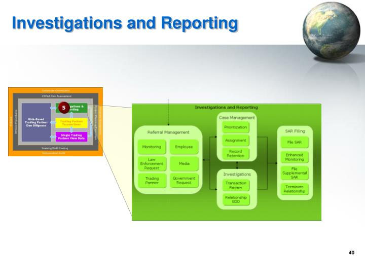 Investigations and Reporting