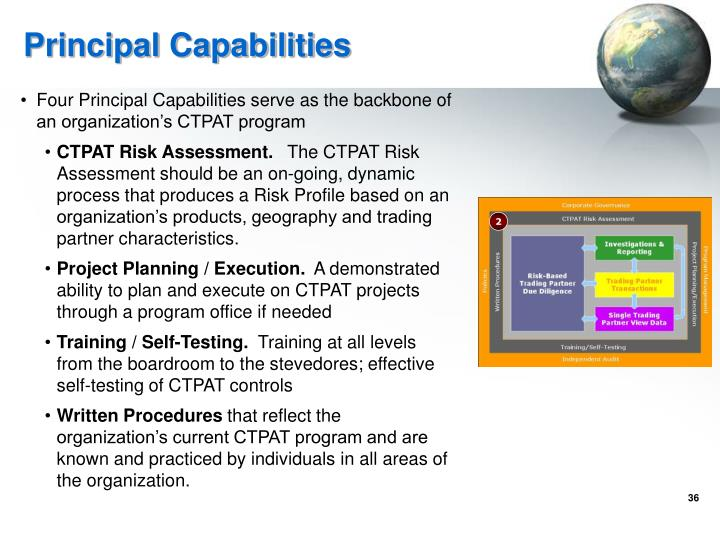 Principal Capabilities
