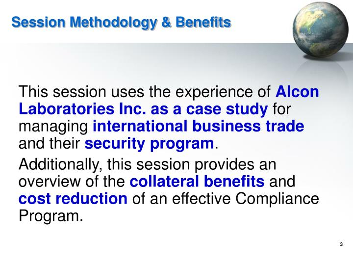 Session Methodology & Benefits