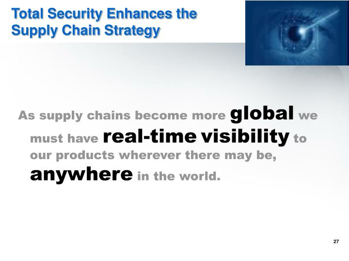 Total Security Enhances the Supply Chain Strategy