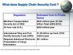 what does supply chain security cost
