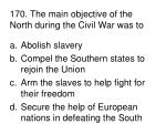 170 the main objective of the north during the civil war was to