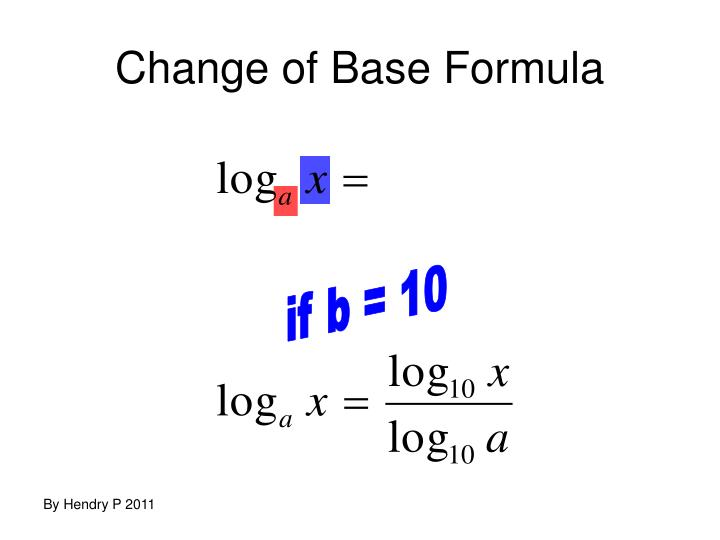 Change of Base Formula