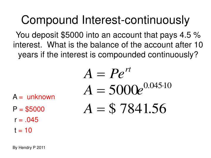 Compound Interest-continuously