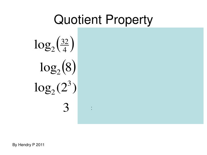 Quotient Property