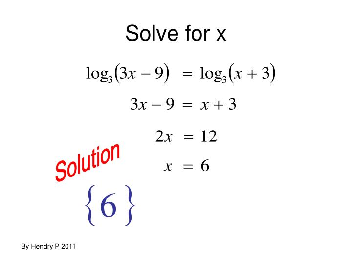 Solve for x