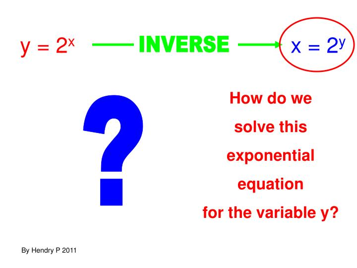 y = 2