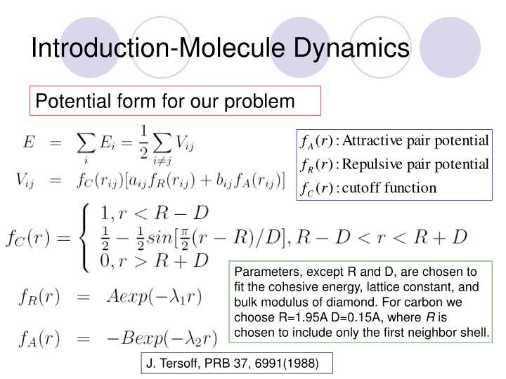 Introduction-Molecule Dynamics