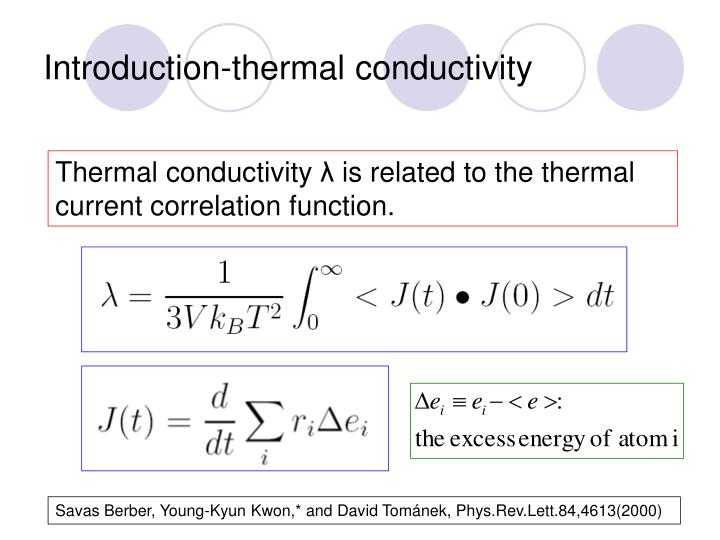 Introduction-thermal conductivity