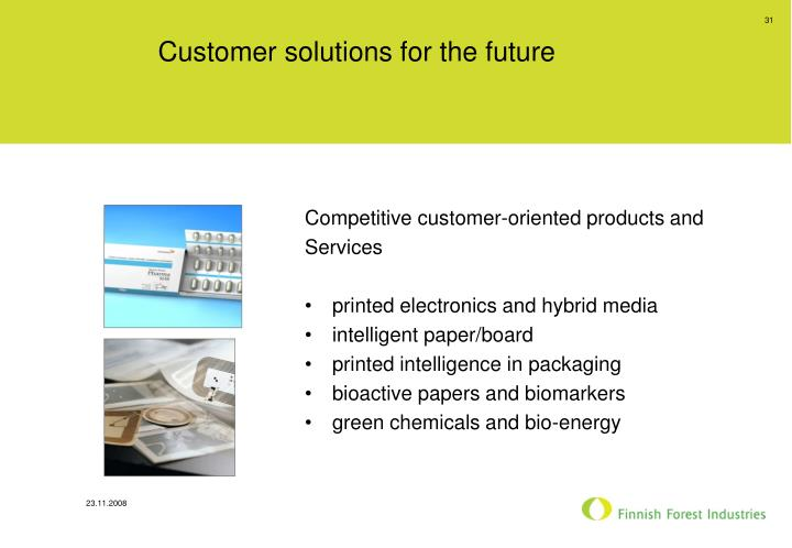 Customer solutions for the future