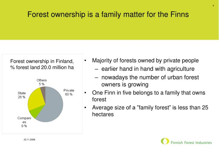Forest ownership is a family matter for the Finns