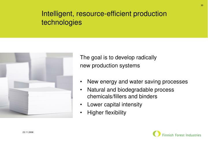 Intelligent, resource-efficient production technologies