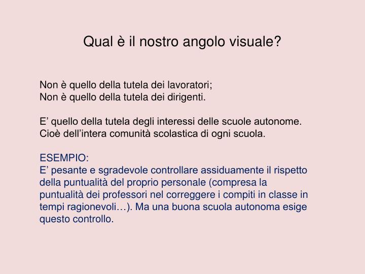 Qual è il nostro angolo visuale?