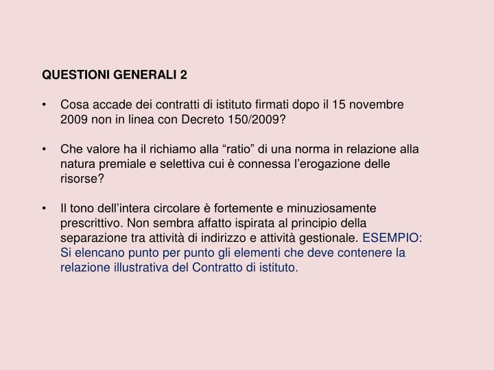 QUESTIONI GENERALI 2