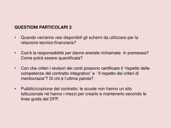 QUESTIONI PARTICOLARI 2