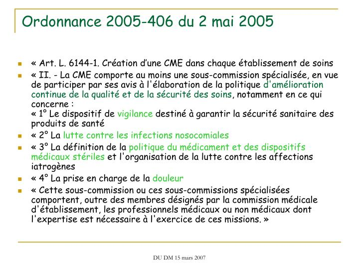 Ordonnance 2005-406 du 2 mai 2005