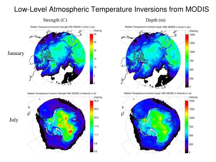 Low-Level Atmospheric Temperature Inversions from MODIS