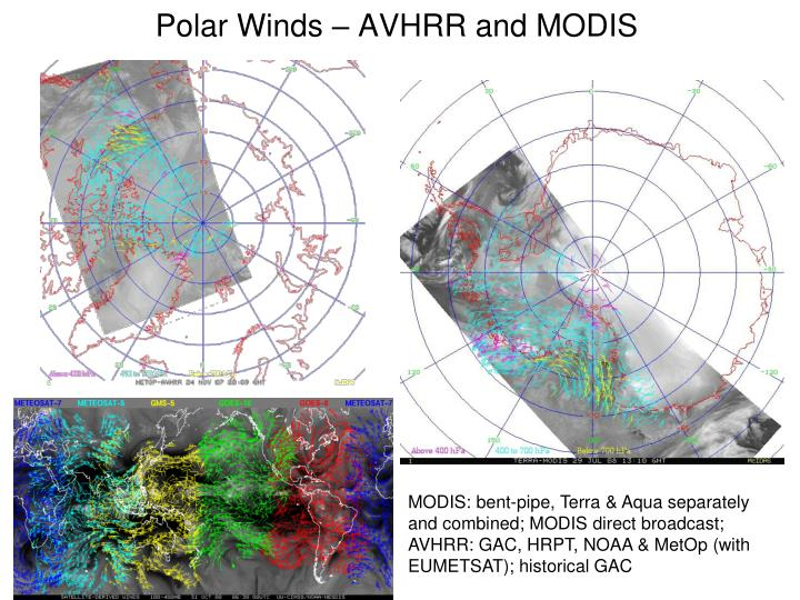 Polar winds avhrr and modis