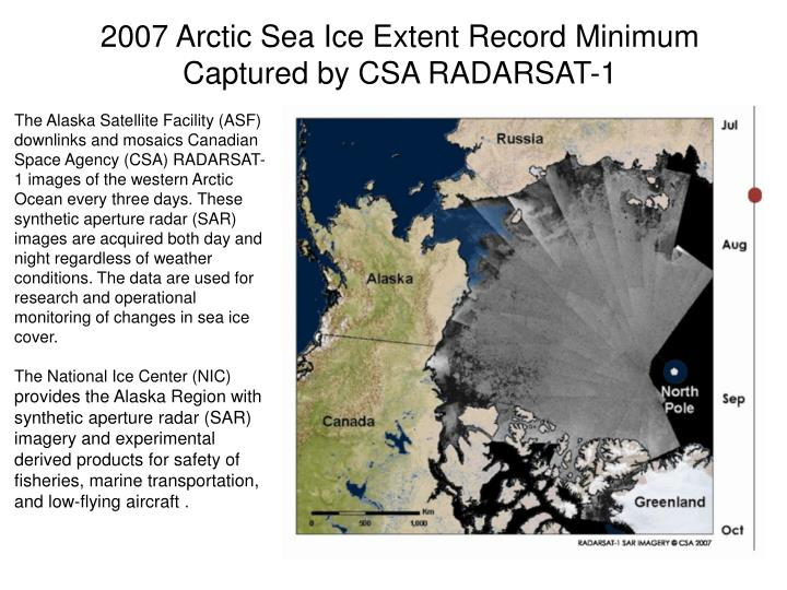 2007 Arctic Sea Ice Extent Record Minimum
