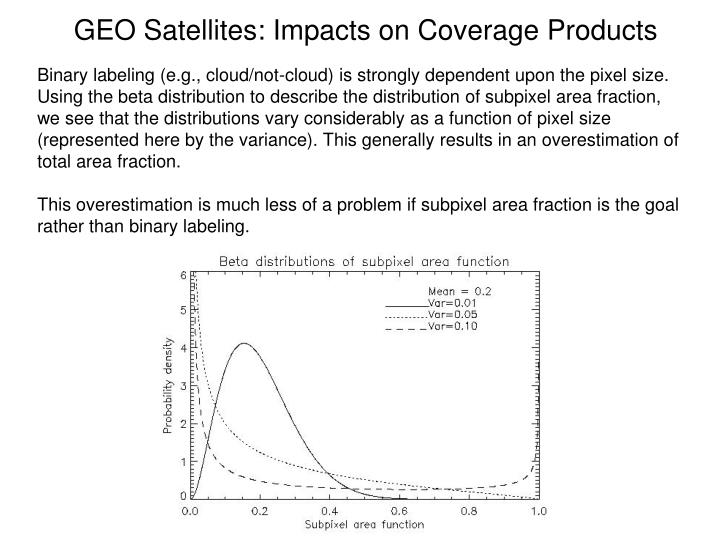 GEO Satellites: Impacts on Coverage Products