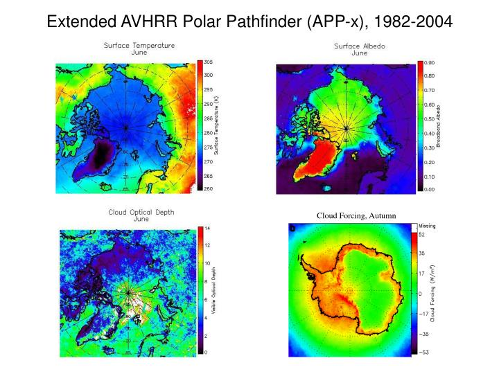 Extended AVHRR Polar Pathfinder (APP-x), 1982-2004