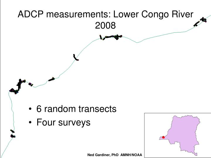 ADCP measurements: Lower Congo River 2008