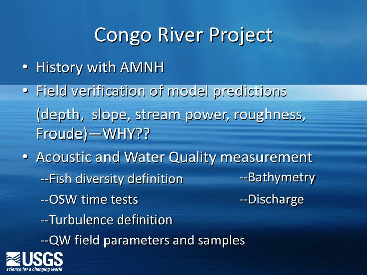 Congo River Project