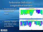 turbulence definition longitudinal transect