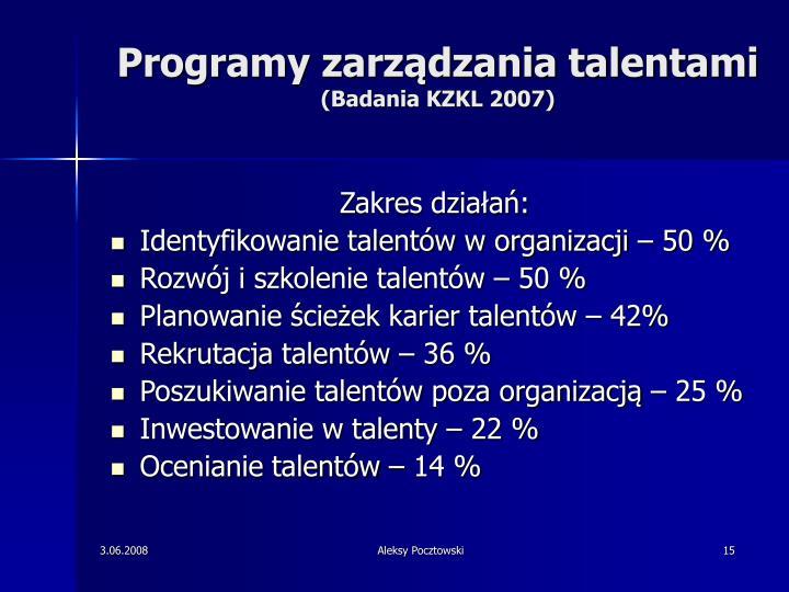 Programy zarządzania talentami