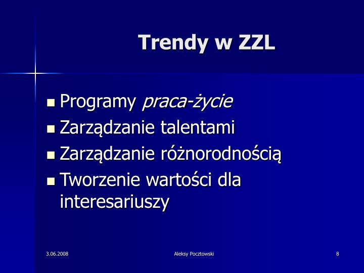 Trendy w ZZL