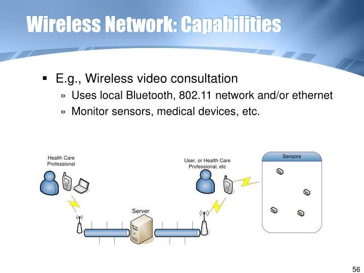 Wireless Network: Capabilities