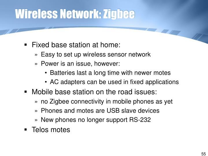 Wireless Network: Zigbee